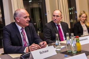 Winfried Schaur, links, mit WPV-Vorstand Michael Gassmann