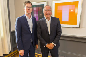 WPV-Vorsitzender Ulf Meinke, links, mit Gunnar Herrmann, rechts